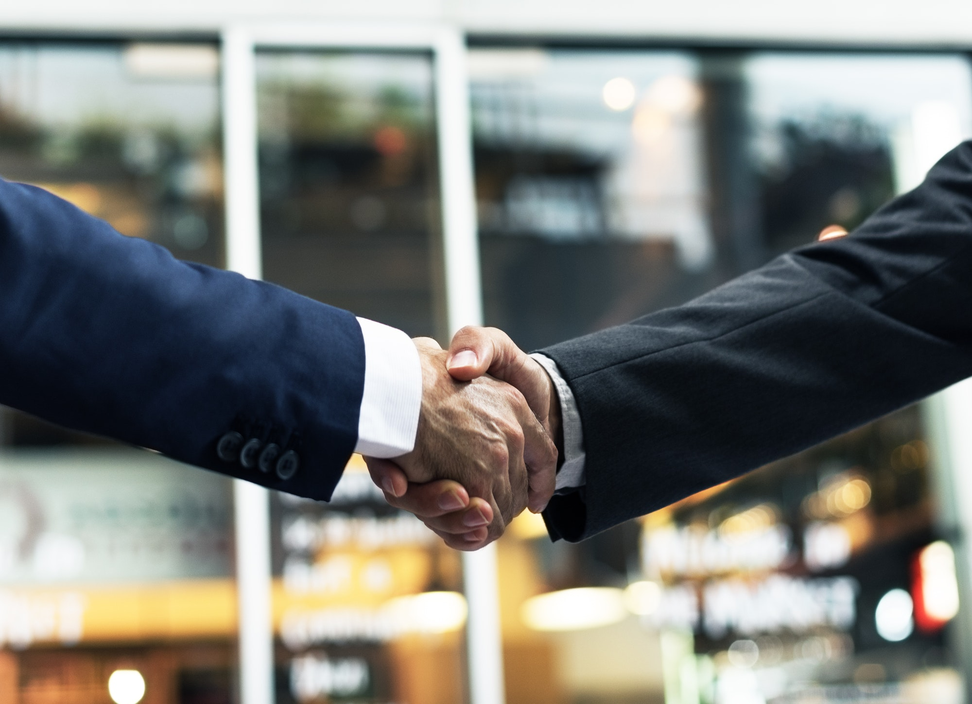 Business Handshake Success Deal Concept